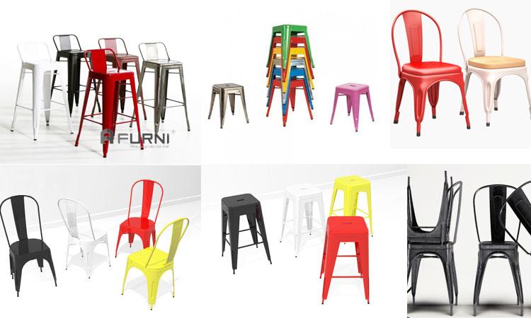 Ghế Tolix dòng ghế giá rẻ dành cho nhà hàng, quán cafe