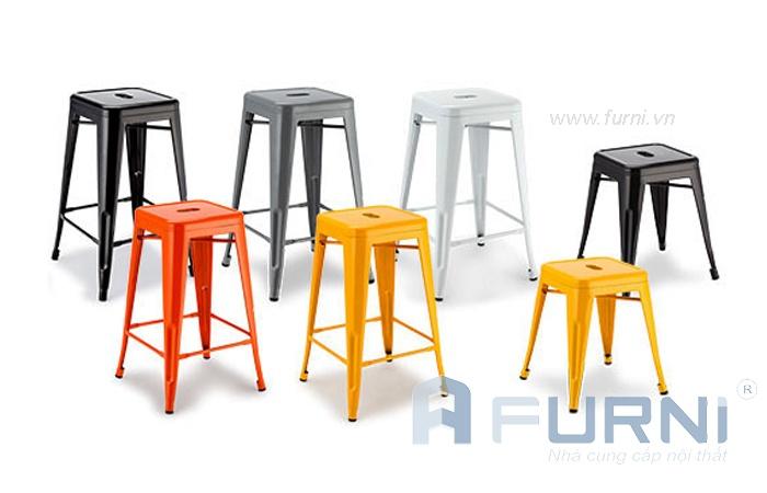 Ghế sắt, thép sơn tĩnh điện dành cho phòng ăn, nhà hàng, quán cafe…