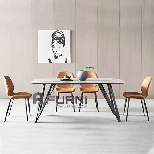 bộ bàn ghế ăn 1m4 và 4 ghế nệm cho căn hộ hcm