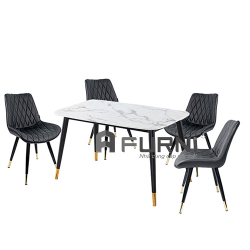 Bộ bàn ghế ăn 4 người cho căn hộ hiện đại tp hcm