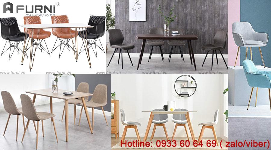 bộ bàn ăn bốn ghế bọc nệm đẹp hiện đại giá rẻ
