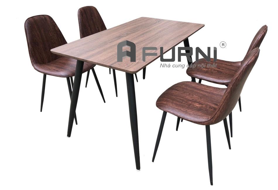 Bộ bàn ghế phòng ăn màu nâu cổ điển BA 1215 3006