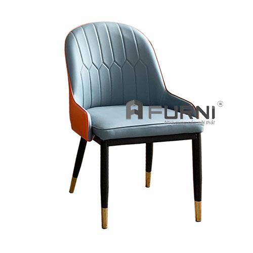 Ghế phòng ăn thân nệm chân sắt hiện đại