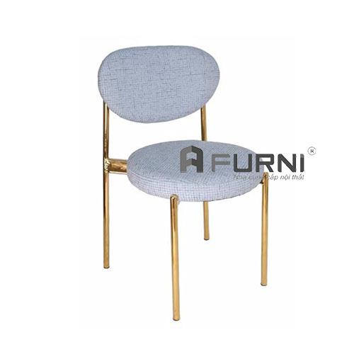 Ghế cafe bọc vải chân thép mạ vàng hiện đại cao cấp