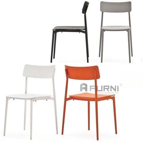 ghế ăn, ghế cafe thép sơn tĩnh điện cult sở hữu những đường nét thanh mảnh, đẹp độc đáo