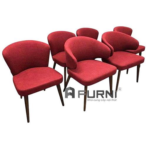 Ghế phòng ăn bọc vải có tay chân gỗ cao cấp hcm