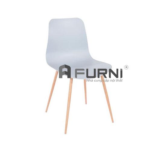 Ghế ăn CC3005 hiện đại màu xanh chân thép sơn vân gỗ