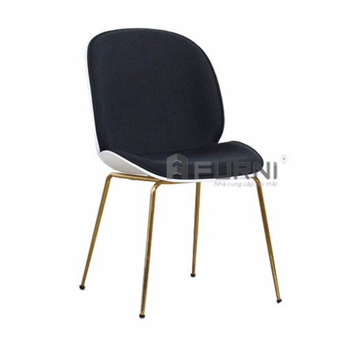 Ghế BEETLE màu xanh chân mạ gold hiện đại