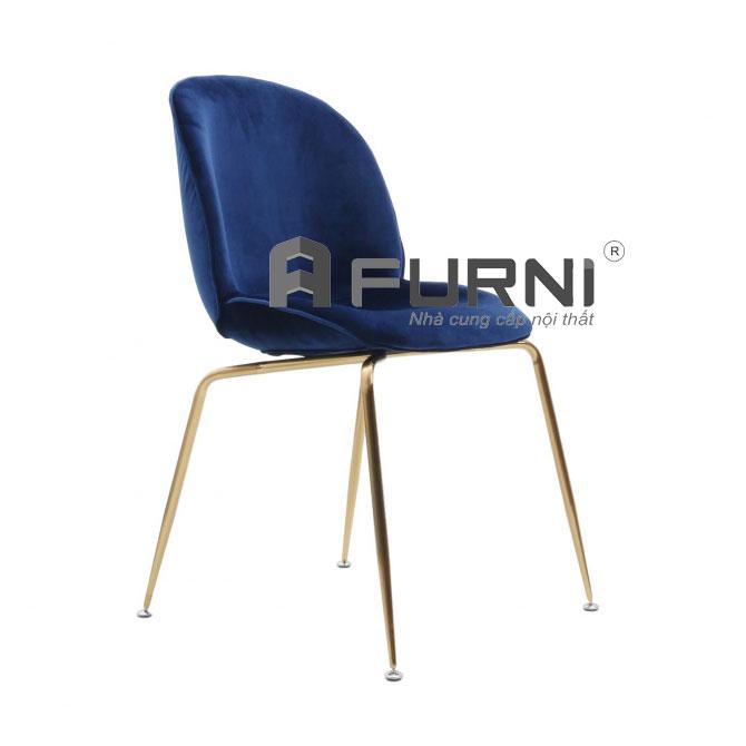 Ghế ăn BEETLE vải nhung màu xanh hiện đại phong cách tại HCM