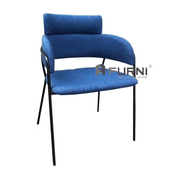 Ghế cafe sang trọng STRIKE-F màu xanh dượng chân sắt sơn tĩnh điện đen tại HCM