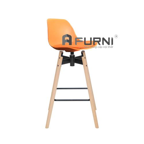 Ghế quầy bar CB 2138-P màu cam năng động với thiết kế độc đáo và trẻ trung