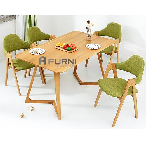 Bộ bàn ăn gỗ hiện đại 1m6