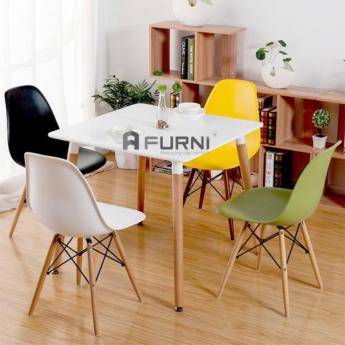 Bộ bàn ghế ăn vuông hiện đại