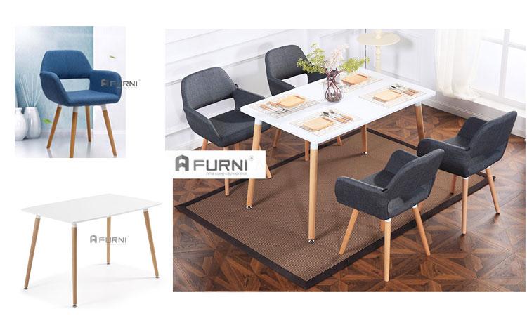 Bộ bàn ghế ăn gia đình đẹp, giá rẻ dành cho 2-4 người tại TPHCM