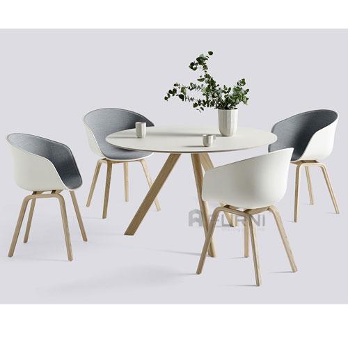 Bộ bàn ghế ăn tròn 4 ghế