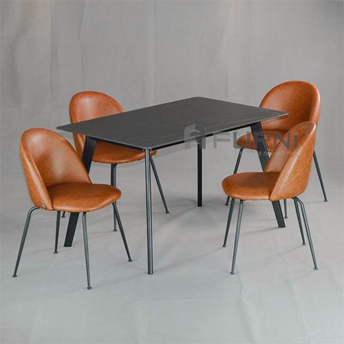 Bộ bàn ghế ăn mặt đá 1m2