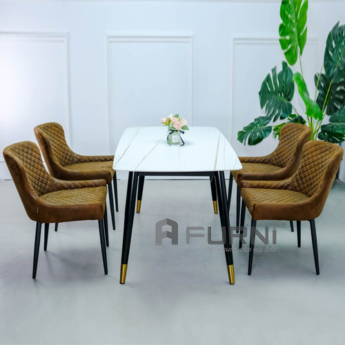 Bộ bàn ghế ăn đẹp mặt đá