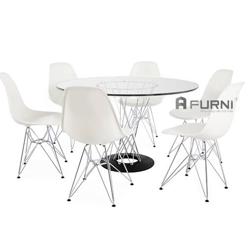 Bộ bàn ăn kính 6 ghế
