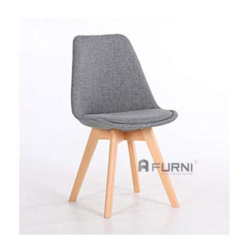 Ghế phòng ăn bọc vải chân gỗ