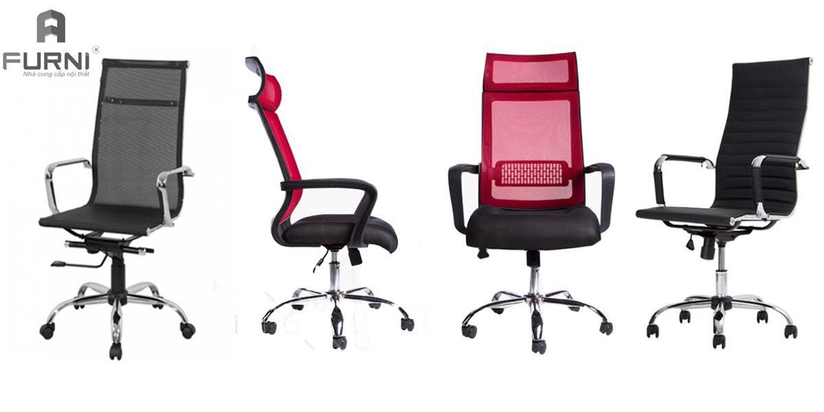 Ghế văn phòng lưng cao chân xoay đẹp hiện đại giá rẻ cho các doanh nghiệp, công ty