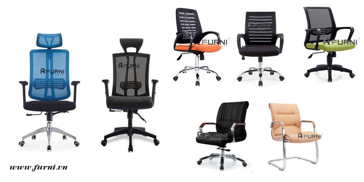 Ghế văn phòng lưng lưới chân xoay thích hợp cho làm việc và phòng họp