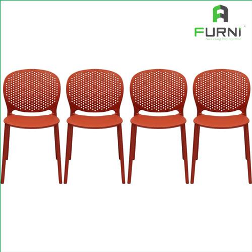 Set 4 Ghế Nhựa Đúc