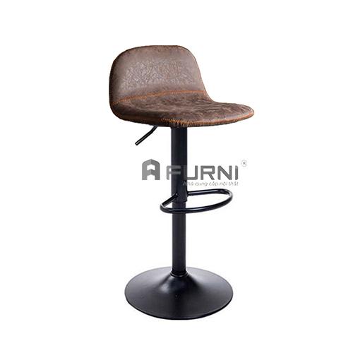 Ghế quầy bar chân đen lưng thấp