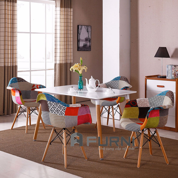 Bàn ghế ăn dài cho chung cư