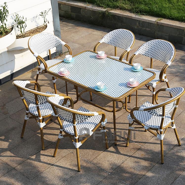 Bộ bàn ngoài trời 6 ghế hcm