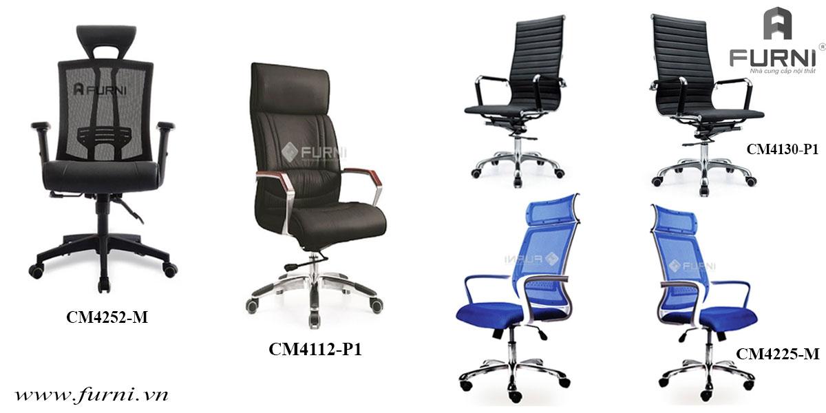 ghế văn phòng chan xoay lưng cao dành cho nhan vien được ưa chuộng hiện nay