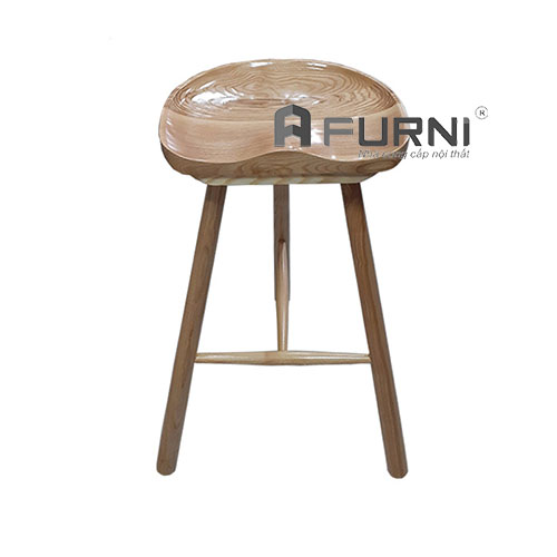 Ghế quầy bar 3 chân gỗ