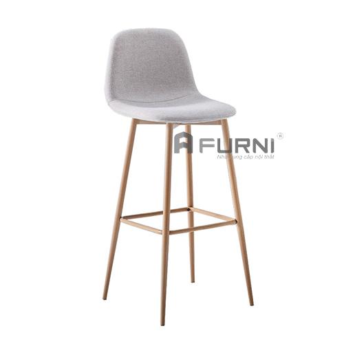Ghế bar nệm vải bố chân sắt