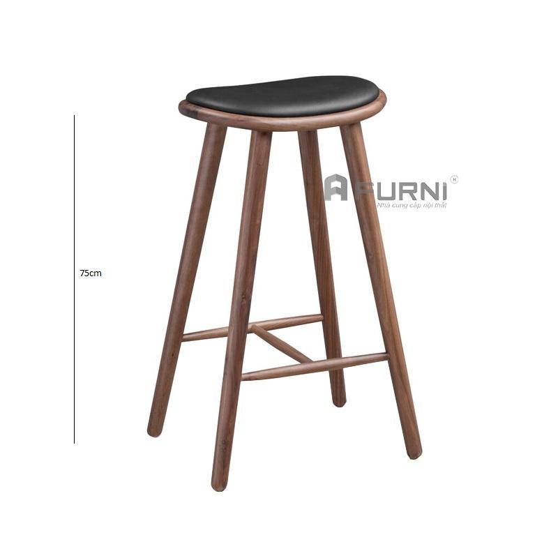 Ghế bar chân gỗ style Italia