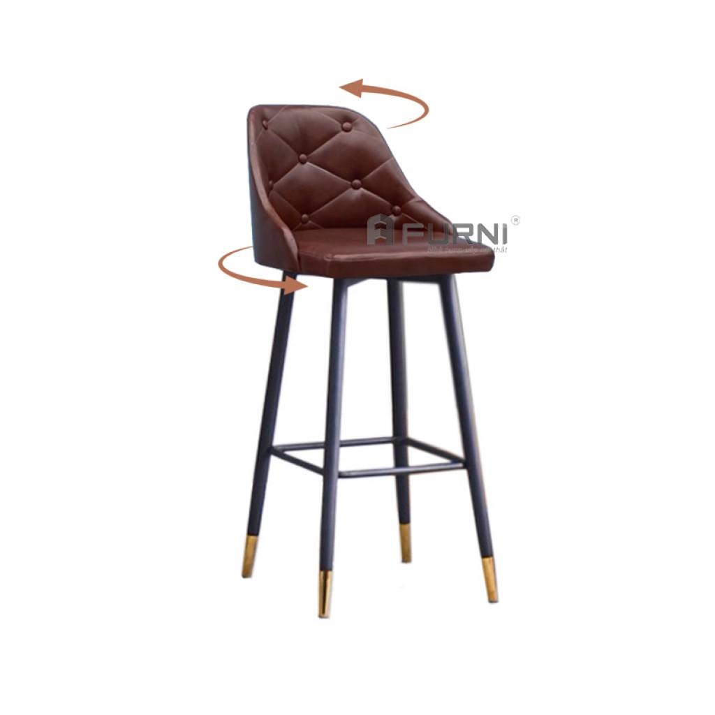 Ghế bar lưng xoay chân H75cm