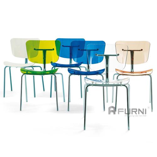 Ghế nhựa trong suốt Slide có nhiều màu cho bạn dễ dàng lựa chọn