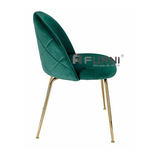 Ghế phòng ăn bọc vải nhung chân sắt mạ màu gold