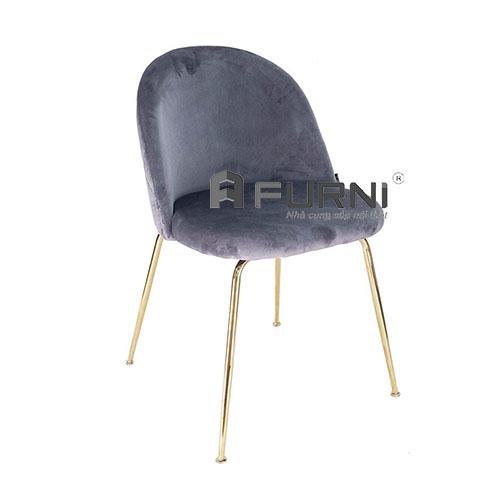 Ghế phòng ăn bọc vải nhung chân mạ màu gold